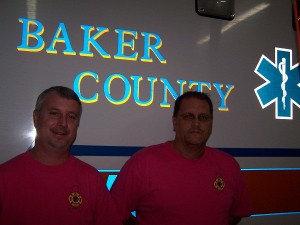 Doug and Bill the two of the EMT's for Baker County Rescue Station 70
