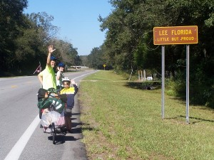 Entering Lee, Florida, the hills are tough, but we are still pedaling on!