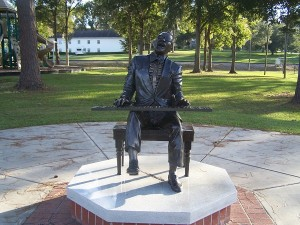 Ray Charles memorial in Greenville, Florida