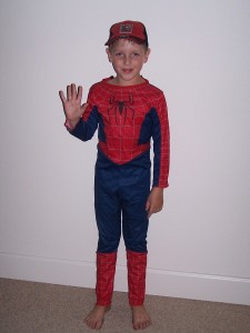 Spiderman after trick-or-treating