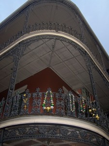 The balconies that New Orleans is famous for