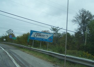 Welcome to Tennessee! I missed getting a photo of the first Georgia sign!