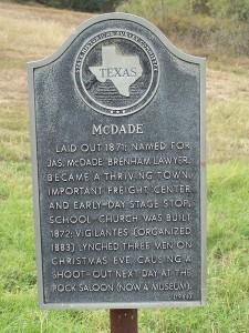 McDade Historical Marker!