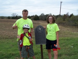 Photo op with the McDade historical marker!