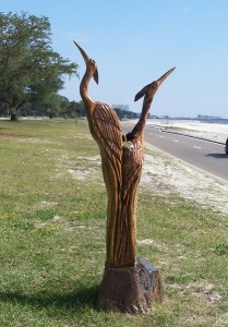 Marlin Miller's Sculpture of Great Blue Herons