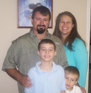 Pastor John & Kim from Pearlington Christian Church with sons Isaac & Josiah