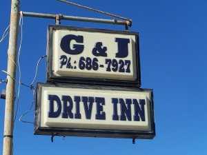 G & J Drive Inn, great food and service!