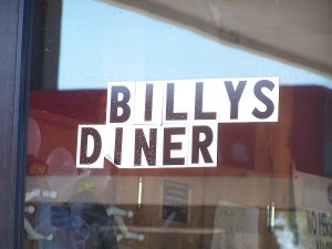 Billy's Diner was just over the river in Krotz Springs, LA