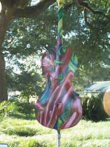 One of many painted Cello's around the Opelousas town square