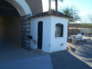 The guard post at the Yuma Territorial Prison