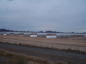 We biked past a large solar farm