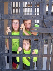 Rob and the kids behind bars?