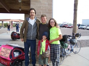 Brian biked across the US with his parents and 3 brothers in 1977 when he was ten years old!