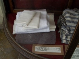Bedding, towels, hats and undergarments where supplied to the inmates.