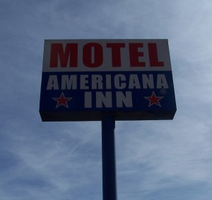 Americana Inn in Sierra Blanca - the only motel, reasonable, clean and pleasant!