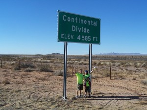 The Continental Divide - how cool is that!
