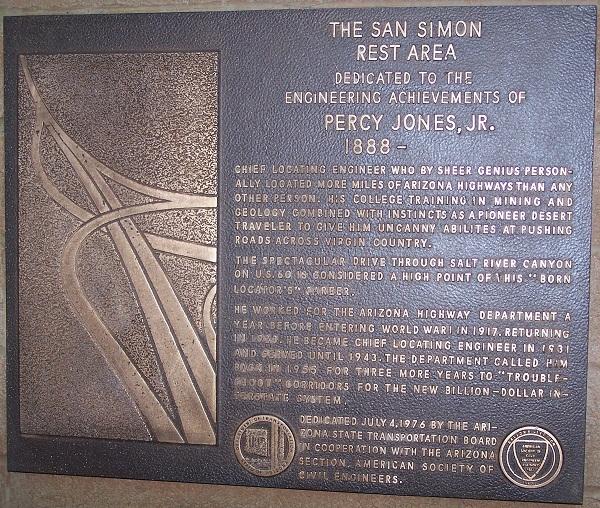 San Simon Rest Area - Historical Marker