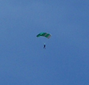 One of the parachutists we say at Marana airport!