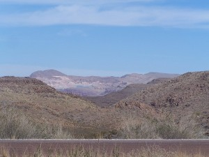 Sierra Diablo Mountain Range north of I-10