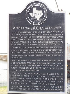 Second Transcontinental Railroad Historical Marker