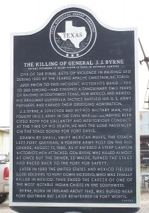Historical Marker - The Killing of General J.J. Byrne