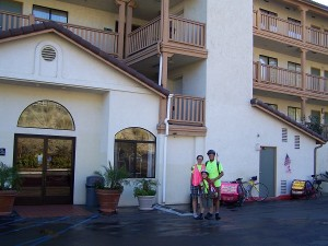 Leaving the Quality Inn in El Cajon.