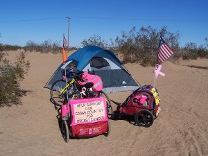 Our campsite at the Imperial Sand Dunes Recreation Area