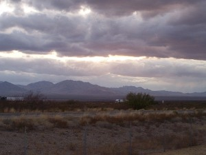 A view from the San Simon, Arizona rest area