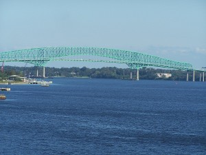 Hart Bridge from Main Street Bridge over the St. John River in Jacksonville, FL