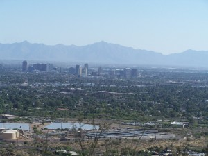 A view while climbing Squaw Peak in Phoenix, AZ