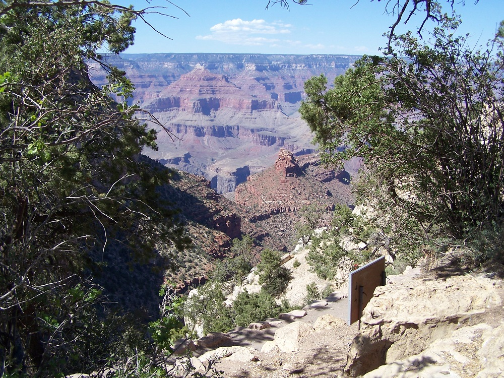 One of the first views of the Grand Canyon.
