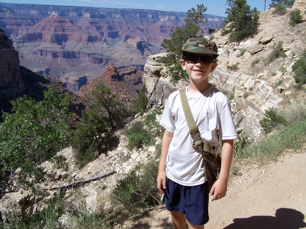 Luke in Grand Canyon