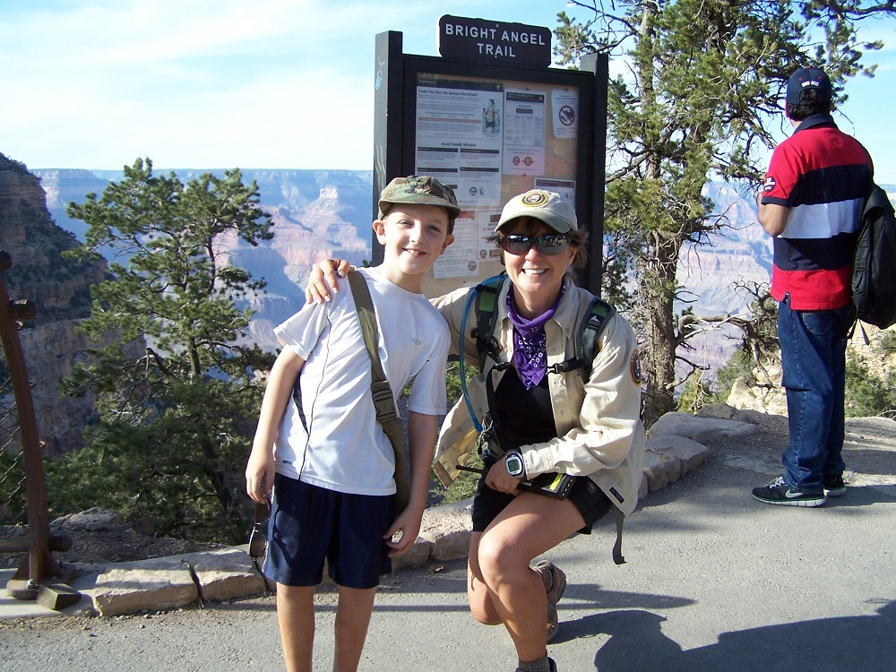 Cherie and Luke at Bright Angel Trail